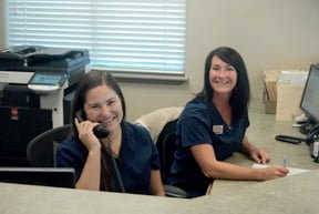 Front office at Peterson Chiropractic