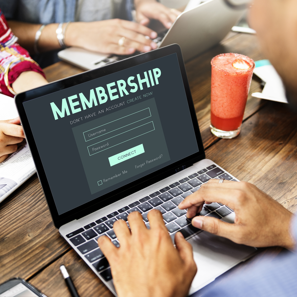 Computer viewing website membership